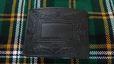 Men's Scottish Deluxe Thistle Kilt Belt Buckle Black Chrome/Thistle Kilt Buckles