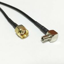 """RP-SMA male plug  to TS9 male right angle  RG174 pigtail cable 20cm 8"""" NEW"""