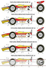 1/12 1969 1970 GOLD L EAF TRANSDECAL LOTUS 49B for TAMIYA HILL RINDT ATTWOOD