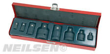 "NEILSEN IMPACT SOCKET ADAPTOR SET 8 PIECE 1/4"" 3/8"" 1/2"" 3/4"" 1"" STEP DOWN UP"