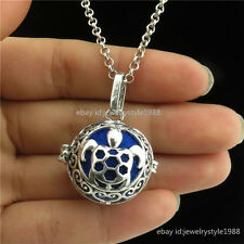 Glow In The Dark Sea Ocean Turtle Animal Perfume Oils Diffuser Locket Necklace