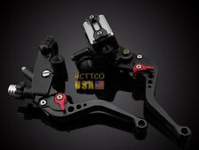 US 22mm Black Brake Clutch Levers Master Cylinder Reservoir SUZUKI Motorcycle