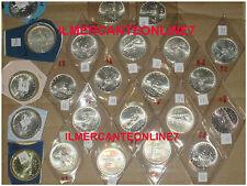 DA SERIE DIVISIONALE GIRO COMPLETO 500 LIRE ARGENTO CARAVELLE DAL 1968 AL 2001