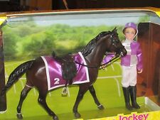 Breyer #62037 Thoroughbred Horse Racing Silks Saddle Jockey Doll Figurine NIB!