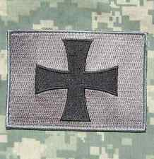 CROSS CRUSADER SHIELD NAVY SEAL DEVGRU ACU DARK VELCRO® BRAND FASTENER PATCH