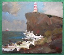 SHIP STANDING OFF : Original Oil Painting Alexei Petrenko : Give Fine Art