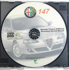 DVD MANUALE OFFICINA ALFA ROMEO 147 1.6 TS 105-120 CV.-2.0 TS-Selespeed- 1.9 JTD
