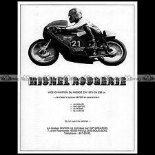 ★ MICHEL ROUGERIE (HARLEY) Levior 1975 ★ Pub PILOTE MOTO Publicité Advert #A198