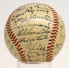 TY COBB SIGNED AUTOGRAPHED BASEBALL GREENBERG HALL OF FAME BALL PSA/DNA AA08553