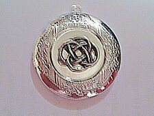 "IRISH Lovers KNOT PHOTO LOCKET silver on sterling 18"" chain necklace, celtic"