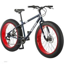 "NEW 26"" Mongoose Dolomite Men's 7-speed Fat Tire Mountain Bike, Navy Blue/Red"