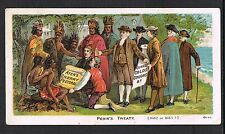 Ayer's Cherry Pectorial Tradecard~Penn's Treaty~William Penn~Lenape Indians~DE