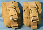 (2) Military USMC Molle II Coyote Frag Grenade Pouch Eagle Industries MARSOC VG