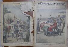 LA DOMENICA DEL CORRIERE 12 Luglio 1925 Gran Premio automobilistico Ascari di e
