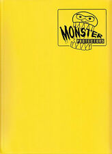 MATTE YELLOW Monster Binder Side-Loading 9-Pocket Card Album/Portfolio