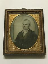 Antique Art Nouveau Miniature Photo Picture With Brass&Copper Engraved Frame