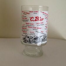 CB Radio~Vintage~C.B.'er Glass~Tumbler radio terms printed all over the outside