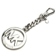 MICHAEL KORS NEW Silver Tone Logo KeyChain Bag Charm Key Fob FreeShipp Worlwide