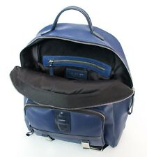 "New NEIL BARRETT Cobalt Blue Saffiano Leather 16"" Backpack Bag Duffle $1,295!"