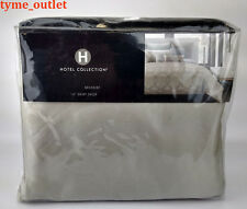 Hotel Collection Bedskirt Calligraphy CAL KING Silver Beige Bed Skirt