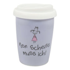 Mea Living  nen Scheiss muss ich Coffee to Go Becher Thermo Porzellan
