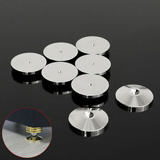 8x Stainless Steel HiFi Speaker Spike Spikes Feet base pad 25*4.2mm floor disc
