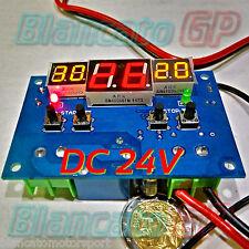TERMOSTATO PROGRAMMABILE TERMOMETRO LED 99°C 24V DC riscaldamento raffreddamento