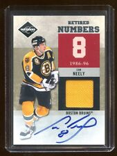 2011 LIMITED CAM NEELY AUTO GAME JERSEY #D /25 *RETIRED NUMBERS* ON CARD AUTO  !