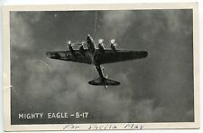"Printed (Lithograph), World War II,US B-17 ""Mighty Eagle"" Graycraft Card"
