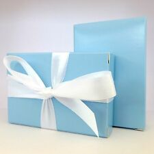 "30 Luxury Baby Blue Wedding Christening Shower Cake Favour Boxes ""Free P&P!"""