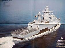 """Poster Bundeswehr Schiff """"Korvette BRAUNSCHWEIG F260 - Klasse130"""" - DIN A2 - NEU"""