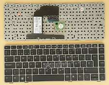 for HP ProBook 6460b 6465b 6470b 6475b Keyboard Spanish Teclado Silver Frame
