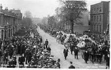 Funeral Procession Sir George Livesey 1908  Peckham unused RP old pc Card House