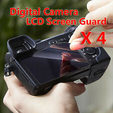 4x Digital Camera LCD Screen Guard Protectors For Panasonic LUMIX DMC TZ80