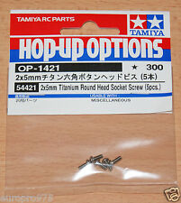 Tamiya 54421 2x5mm Titanium Round Head Socket Screw (5 Pcs.) (RM01/F104V.2) NIP