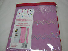 New Maddy + Jake Sparkle Mesh Sheer Panel Pairs 80x84 `  Lavender NIP