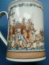 """STAFFORDSHIRE POTTERY TANKARD """"ST PAUL'S"""" BY JOHN GRIFFITHS LTD ED. #714 SIGNED"""