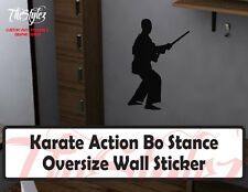 Karate Action Bo Stance Oversize Wall Vinyl Sticker