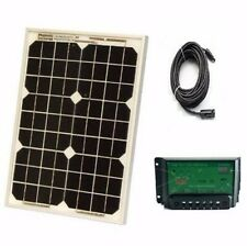 12V 60W Solar Panel Home Generator Caravan Camping Power Mono Charging PWM Kit