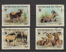 WWF  Tschad  Mähnenspringer Mi 1171/1174 gestempelt