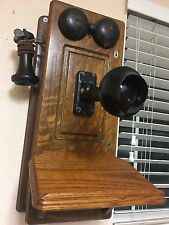 ANTIQUE WESTERN ELECTRIC WOOD CRANK WALL TELEPHONE ,AUTHENTIC , NICE WOOD ..LOOK