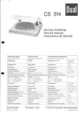 Dual Original Service Manual für Phono CS 514
