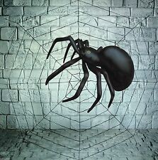 GIANT 150cm SPIDERS COBWEB WEB & 91CM INFLATABLE SPIDER HALLOWEEN DECORATION