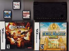 Nintendo DSi Pokemon Black Version Handheld Console & Case 5 Games AC Adapter