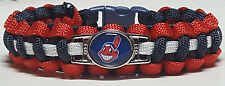 "Cleveland Indians ""Chief Wahoo"" Handmade Paracord Bracelet; World Series Bound!"