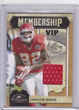 2009 DONRUSS CLASSICS FOOTBALL DWAYNE BOWE AUTHENTIC RELIC CARD 203/299