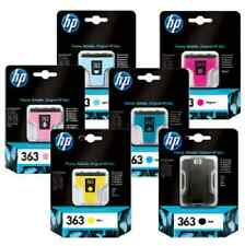 HP 363 SET OF 6 INKS PHOTOSMART D7460 D7360 ORIGINAL
