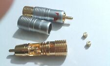 20 pcs  Nakamichi Pure Copper Gold Plated RCA Jack Plug Connector