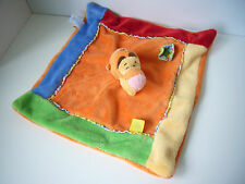 Disney Winnie the Pooh Tigger blankie blanket baby comforter soft toy flower