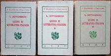 1926 UTET-Lezioni di LETTERATURA ITALIANA -Luigi Settembri-  54-55-56 - 3 Voluni